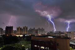 DSC6499~4lightning (michaeliao27) Tags: lightning    taiwan taichung city