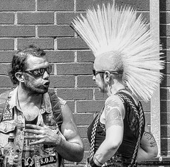 When the Punks Grew up 25 (lightandform) Tags: people punks street festival conflict strange attitude faces wanderers skinheads loitering