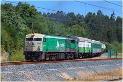 Bif. Faxil (Pablo Martinez Perez) Tags: tren herbicida sintra 3 portela bifucación faxil eje atlantico pontevedra galicia españa spain