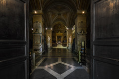 Statues And Arches... (JH Images.co.uk) Tags: rome italy church religion altar arch hdr dri doors opening entrance statue