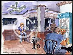 Bar Parreño interior (miguitocarmona) Tags: parreño miguito mylcreativos córdoba acuarela cuestadelapolvora