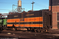 Great Northern Railway Heater Car 8 at Denver Colorado in February 1977 (Twin Ports Rail History) Tags: gn great northern railway 1977 denver colorado bn burlington heater car boiler steam passenger box twin ports rail history by jeff lemke time machine ore dock slusher