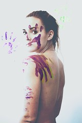 paint (miabonanno1) Tags: paint fingerpaint girl