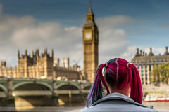 London in Colour (Nathan Dodsworth Photography) Tags: westminster bigben housesofparliament capitalcity london landmarks girl female hairstyle colours dyedfashionable modern outdoors