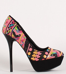 "Multicolor sequin round toe platform pump black multi • <a style=""font-size:0.8em;"" href=""http://www.flickr.com/photos/64360322@N06/15108322663/"" target=""_blank"">View on Flickr</a>"