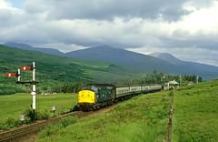 Sunny day at Bridge of Orchy (delticfan) Tags: passengertrain bridgeoforchy westhighlandline class37 semaphoresignals 37190 eetype3