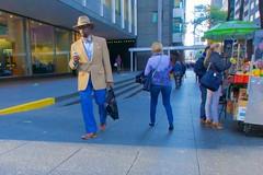 When they want to, New York men can dress very fashionably ... (Ed Yourdon) Tags: newyork hat cellphone bowtie hood fedora peeps fashionable streetsofnewyork streetsofny