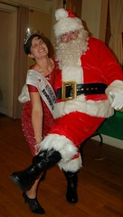 Maria Walsh Trying Mightily to Give Santa a Lift!