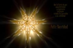 Felicitacion de navidad (pepas1) Tags: luz navidad amarillo estrella jos m resplandor felicitacin pepas1