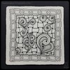 Zentangle® Inspired Art : Trio, Huggins, & Xyp (ha! designs) Tags: blackandwhite illustration pen pencil ink tile pattern drawing doodle trio tangle graphite huggins 2014 weeklychallenge zentangle xyp hadesigns hadesignszentangle divasweeklychallenge