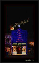 And Away We Go (the Gallopping Geezer 3.8 million + views....) Tags: christmas decorations food bar canon lights restaurant mainstreet display michigan decoration diner rochester business tavern storefront merchant geezer corel 2014 christmasnight myhometown lightstreet biglightshow