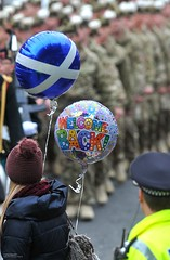 Welcoming Home Soldiers from Afghanistan (Defence Images) Tags: uk balloons scotland military free parade homecoming marching british ayr spectator defense defence welcomehome theroyalhighlandfusiliers theroyalregimentofscotlandscots 2ndbattaliontheroyalregimentofscotland2scots|welcomeh