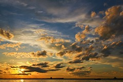First Sunset 2015 (Yudho Wiratomo) Tags: travel sunset sky sun nature indonesia landscape place dramatic balikpapan 2015