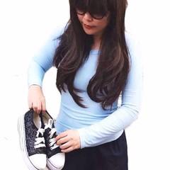 เสื้อยืดแขนยาว แฟชั่นเกาหลีคอกลมน่ารักรุ่นใหม่ใส่สบาย นำเข้า ฟรีไซส์ สีฟ้า - พร้อมส่งTJ7446 ราคา249บาท  เสื้อยืดแขนยาว  เสื้อยืดน่ารัก แบบใหม่เสื้อผ้าผู้หญิงแฟชั่นเกาหลีคอกลมแขนยาวใส่ได้เข้ารูปน่ารักปนเซ็กซี่ขี้เล่น สวมเก๋เหมือนนางแบบน่ารักนำเข้าใหม่ล่าสุ