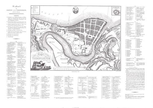 Kaptein Bloms kart over Trondhjem (1830)
