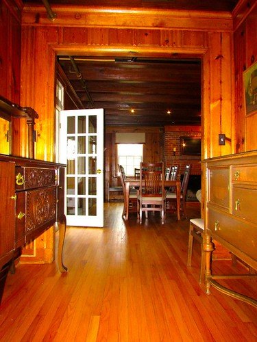 View of the dining area from the kitchen entrance