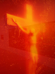 'Immersions: Piss Christ' by Andrea Serrano (detail) (Simon_K) Tags: london art modern artwork gallery satire humour censorship censored popart irony ban controversy decadence banned saatchi serrano censor controversial deathtoll hebdo pisschrist bancensorship jesuischarlie