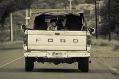 El nio (quetografo) Tags: road street mountain ford argentina sepia kids kid camino nios mendoza solo nio solitario camioneta truch