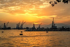 Sunset (Estial STL) Tags: sunset seascape hongkong kowloon waterscape sunsetinhongkong stonecutterisland newyaumatei estial estialphotography