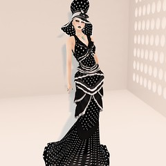 Jamee Sandalwood - Dotty Dress for 2Lei (Jamee Sandalwood - Miss V SWEDEN 2015) Tags: fashion fun model formal sl secondlife virtual gown couture haute slfashion wiccaswardrobe
