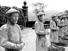 DSCN3300-Royal Mausoleums, Hue, central Vietnam (CBourne007) Tags: red building blackwhite asia royal vietnam hue centralvietnam