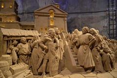 Kerststal: Magisch zand (Explored) (l-vandervegt) Tags: christmas sculpture holland netherlands sand nederland cave limburg valkenburg niederlande kerst zand grot 2013
