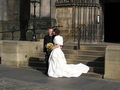 DSCF8751 bruidspaar (annelies_visser) Tags: bride scotland edinburgh kilt stgilescathedral highstreet schotland bruidspaar