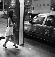 HK taxi (Stefano-Bosso) Tags: china street blackandwhite bw hk white black monochrome hongkong mono blackwhite asia taxi heels nightlife bnw canton streetphotos blackwhitephotos