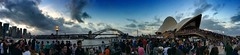 Stand-by in New Year's Eve / #Sydney / #Australia (haphopper) Tags: bridge blue sunset sky people panorama cloud sun building nature weather dawn audience sydney australia newyear event entertainment experience nsw newsouthwales guest operahouse syd harbourbridge 2014 2015