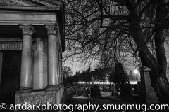 Night Visit (art.dark.photography) Tags: bw graveyard stone architecture night tomb graves burial vault gravesite
