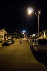 Cruisin'. (PeeterTomson) Tags: life streets night hawaii waikiki oahu good smooth cruising downhill explore enjoy longboard skateboard fujifilm honolulu 12mm aloha xa1 rokinon