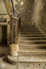 Chateau au lac (Urbex Diary) Tags: old urban stairs canon lost place au lac abandon mk2 5d chateau exploration ue urbex