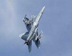 F18 Hornet (Bernie Condon) Tags: tattoo plane flying fighter display aircraft aviation military jet airshow strike hornet boeing f18 usn warplane ffd fairford 2014 riat airtattoo riat14