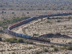 Eastbound at Shawmut (Clay Gilliland) Tags: arizona southwest train desert diesel unionpacific locomotive ge sonoran freight sonorandesert southernpacific emd shawmut combatrailfan gilaline