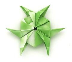 Fujimoto hexagone Rosette 04 front (Pliages et vagabondages) Tags: origami rosette décoration fujimoto hexagone