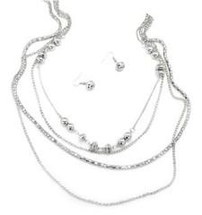 5th Avenue Silver Necklace P2220A-5