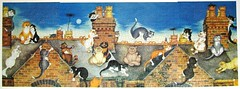 A Night on the Tiles (The whole triptych) (Leonisha) Tags: triptych puzzle jigsawpuzzle triptychon