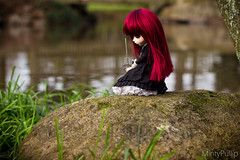[PULLIP FESTIVAL - Concours Photo] La dame du lac (MintyP.) Tags: canon eos 50mm doll groove pullip concours custo merl 600d obitsu mintypullip elwyna pullipfestival