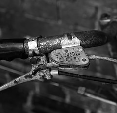 Sturmey Archer (Martyn.A.Smith LRPS) Tags: old monochrome bicycle metal blackwhite cable handlebar brakelever sturmeyarcher canon7d