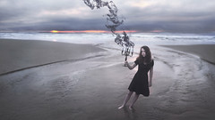 The Death Of A Flame pt. 2 (Rob Woodcox) Tags: ocean sea black art beach water beauty youth oregon river dark death scary sand moody dress darkness pacific smoke dramatic surreal flame pacificocean conceptual cannonbeach emotions emotive whimsical blackdress robwoodcox robwoodcoxphotography