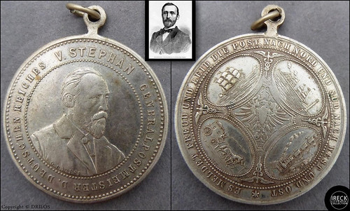 PICTORIAL MEDAL - GERMAN POSTMASTER GENERAL HEINRICH VON STEPHAN