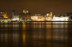 Golden Waterfront (David Chennell - DavidC.Photography) Tags: liverpool golden cityscape pierhead merseyside 3graces liverpoolwaterfront liverpoolcityscape
