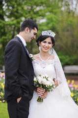 (irina_kra) Tags: life park wedding portrait people white love beautiful groom bride spring hug kiss couple young marriage naturallight weddingdress blooming weddingphotography weddingbouquet nikond300