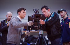 Trabajo en equipo (Jonatan Torres fotografa) Tags: luces films cine workshop filmmaker camaras colombiano