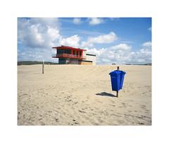 ** (ha*voc) Tags: film beach mediumformat rangefinder 6x7 katwijk 220 80mm urbanfragments fujiprovia100 mamiya7ii