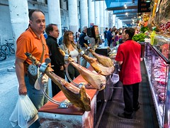 Jamon Iberico (mindweld) Tags: barcelona de la spain market mercado boqueria laboqueria mercatdelaboqueria mercadodelaboqueria mercatdesantjosepdelaboqueria