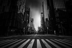 Dead City ([~Bryan~]) Tags: street bw japan tokyo ginza crossing darkness zebracross deadcity ndfilter walkingdead cloudmovement daytimelongexposure