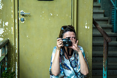 (wolfartf) Tags: door camera trip travel brazil woman verde green paran brasil handle photo iron foto lock mulher picture rusty vila velha curitiba porta viagem guaruja turista ferro fechadura turist enferrujado maaneta
