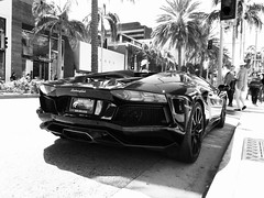 lamborghini aventador lp700-4 roadster (datcdang) Tags: california apple car photography blackwhite losangeles flickr noir only beverlyhills lamborghini hdr bnw roadster carphotography iphone 5s carporn iphonography aventador iphoneonly lamborghiniaventador appleiphone5s
