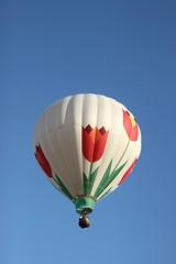 Balloon (historygradguy (jobhunting)) Tags: sky ny newyork balloons flying balloon flight upstate hotairballoon hotairballoons balloonfest ballstonspa saratogacounty saratogacountyfairgrounds
